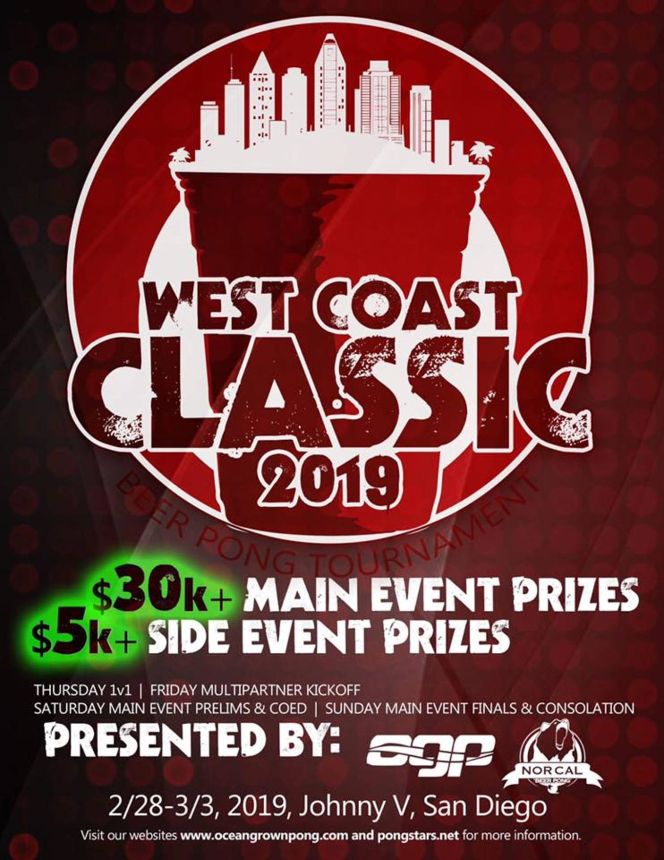 2nd Annual West Coast Classic 35000 Beer Pong Championships