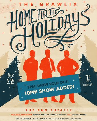 LATE SHOW! High Plains Presents The Grawlix, Home for the Holidays: A Fundraiser