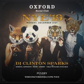 New Year's Eve @ Oxford Social Club
