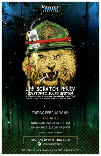 Lee Scratch Perry ft. Bo Napoleon at Discovery Ventura
