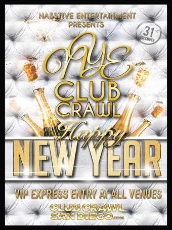 NYE 2019 CLUB CRAWL TO BASSMNT