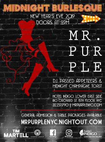 New Year's Eve 2019 at Mr. Purple