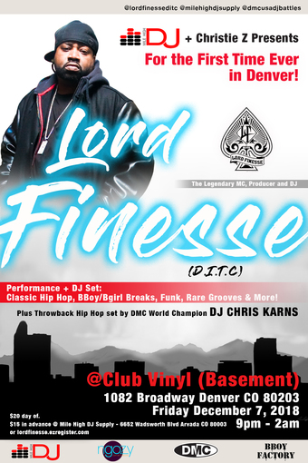 Lord Finesse + Chris Karns