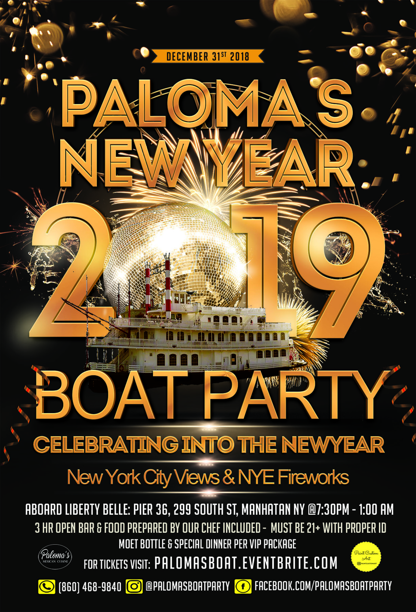 New York City New Years Eve Fireworks Boat Party