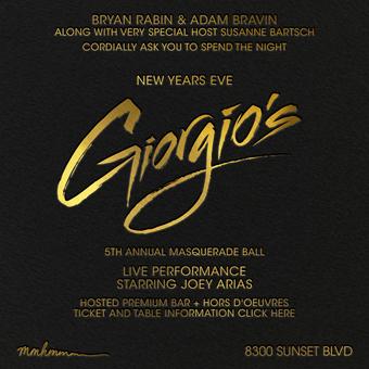 Bryan Rabin + Adam Bravin present Giorgio's 5th Annual Masquerade Ball