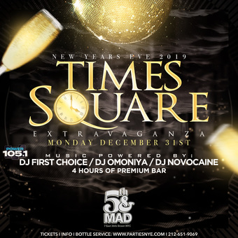 New Years Eve Times Square 4 Hour Open Bar