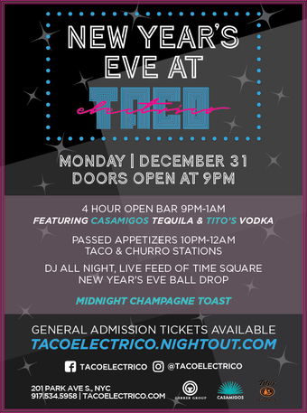 NEW YEAR'S EVE AT TACO ELECTRICO
