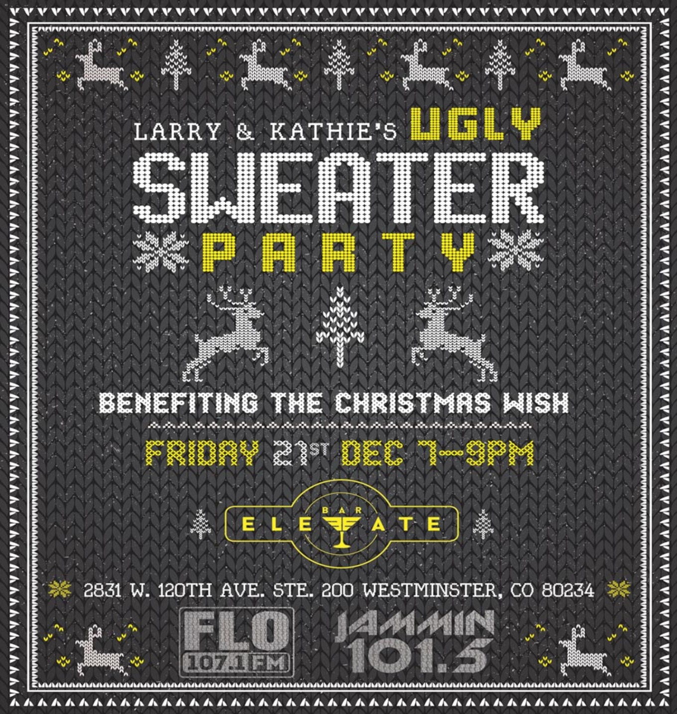Larry & Kathie's Ugly Sweater Party - Tickets - Bar Elevate