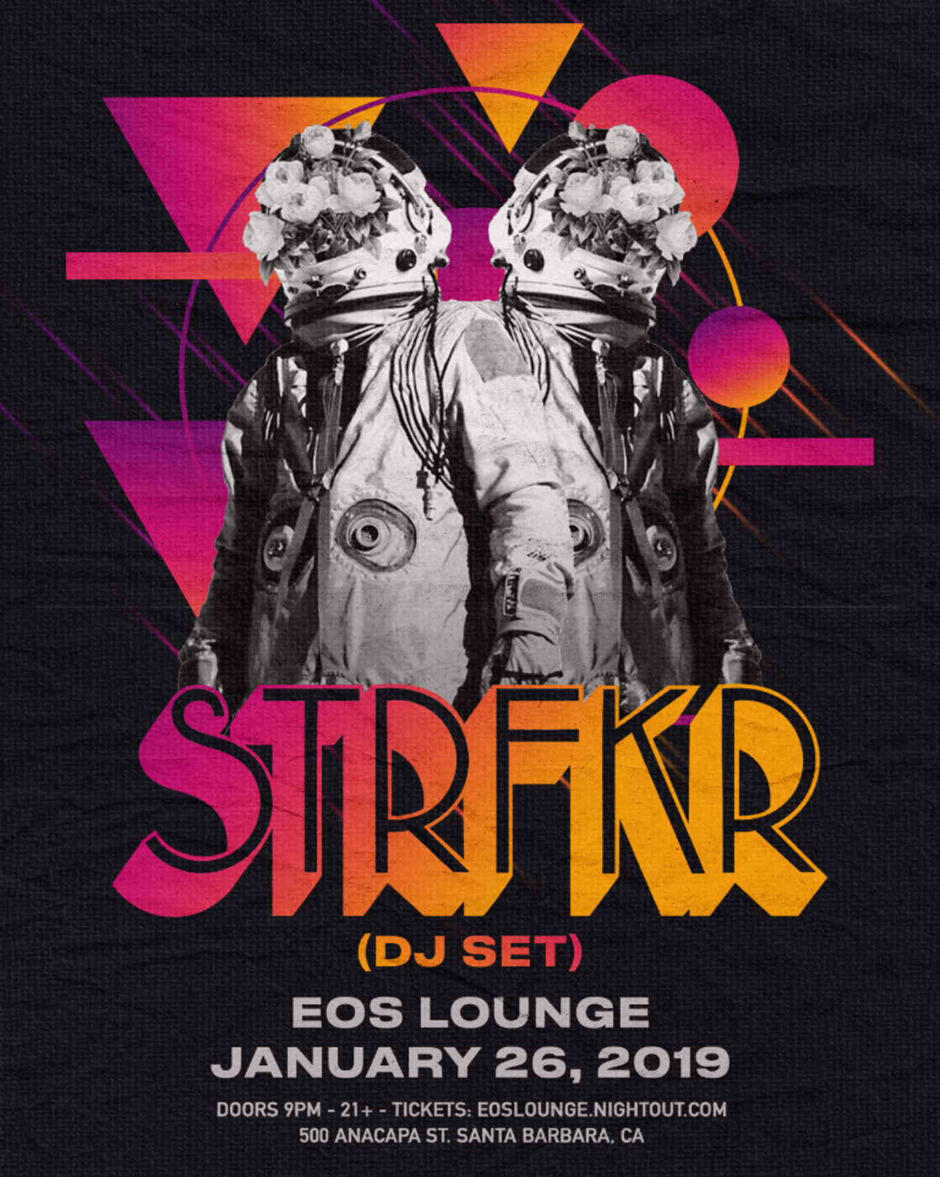 STRFKR at EOS Lounge 1 26 19 - Tickets - EOS Lounge, Santa