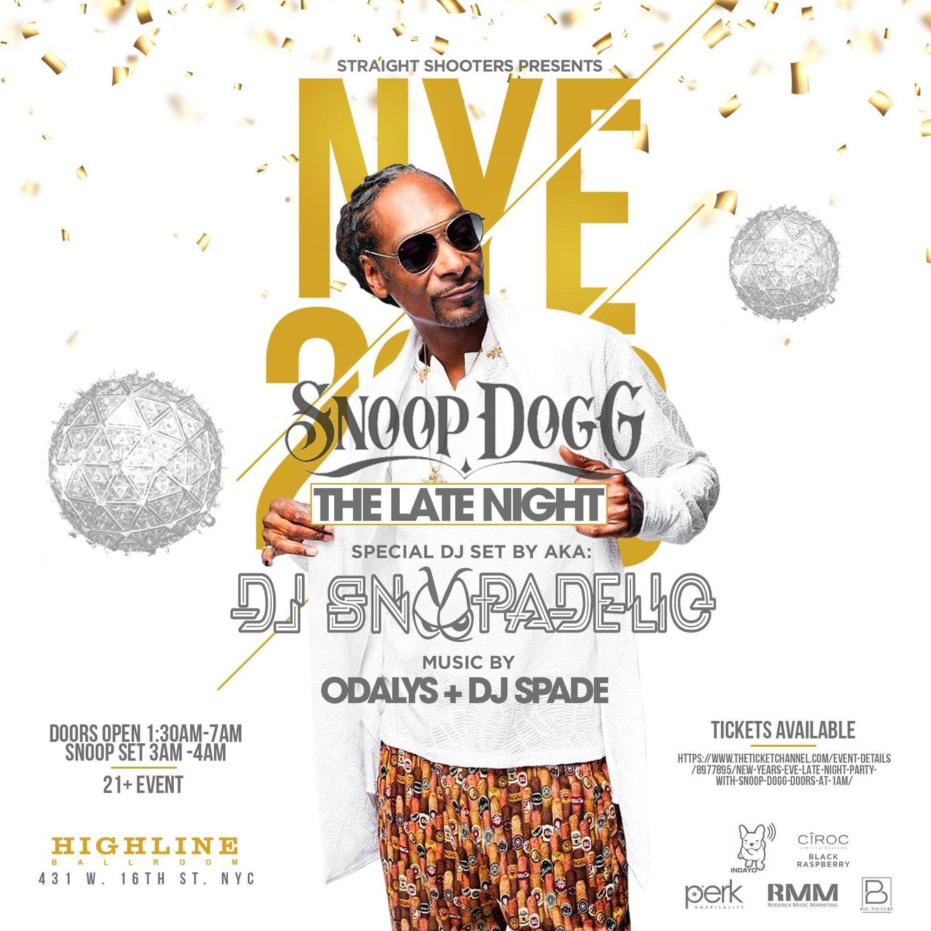 a5cb6536951 New Years Eve Late Night Party with Snoop Dogg - Doors At 1AM - Tickets -  Highline Ballroom