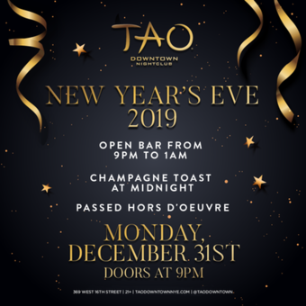 New Year's Eve 2019 at TAO DOWNTOWN