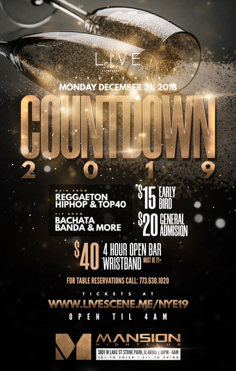 New Years Eve 2019 at Mansion