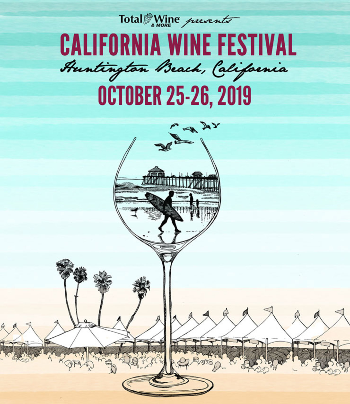 photograph regarding Total Wine Printable Coupons called California Wine Competition - Huntington Beach front at Paséa Lodge