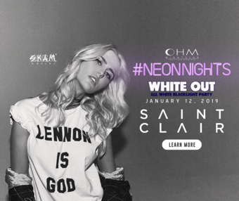 CLUB DV8's Neon Nights White-Out with Saint Clair