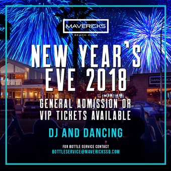 Mavericks Beach Club New Years Eve Extravaganza