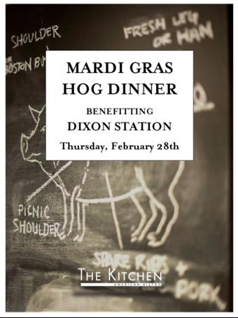 Mardi Gras Hog Dinner & Meat Raffle benefitting Dixon Station