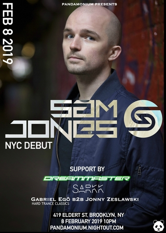 Sam Jones (NYC Debut), Dreammaster, Sarkk, Jonny Zeslawski