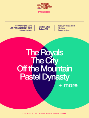 The Royals, The City, Off the Mountain, Pastel Dynasty + more