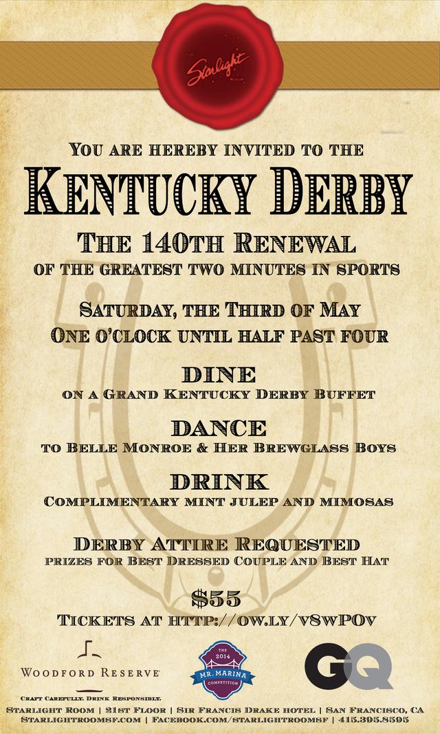 Starlight Room's Kentucky Derby Party