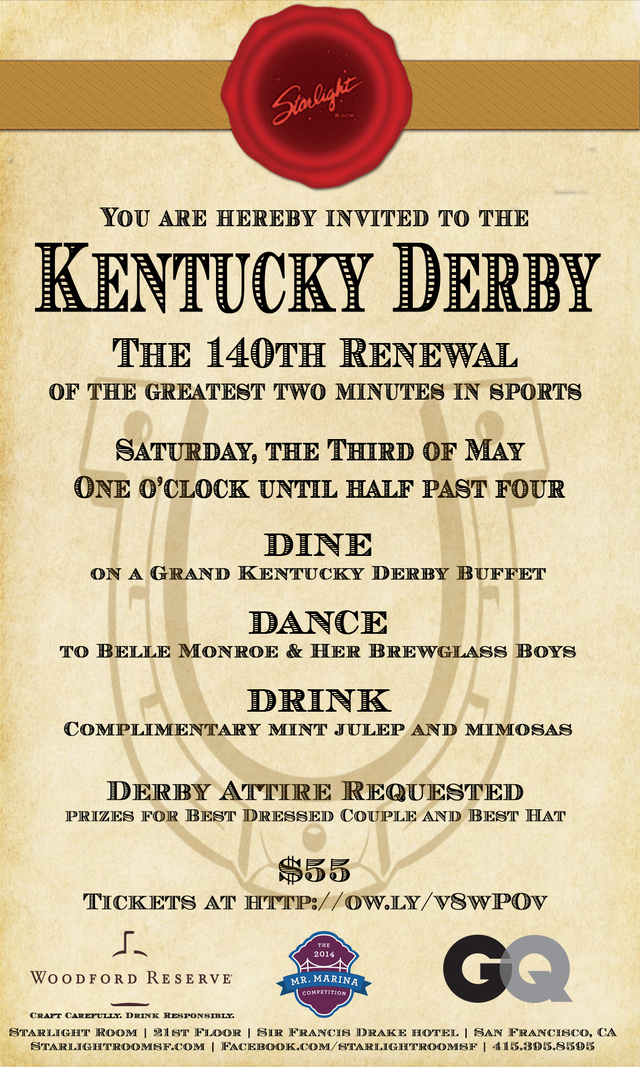 Starlight Room's Kentucky Derby Party