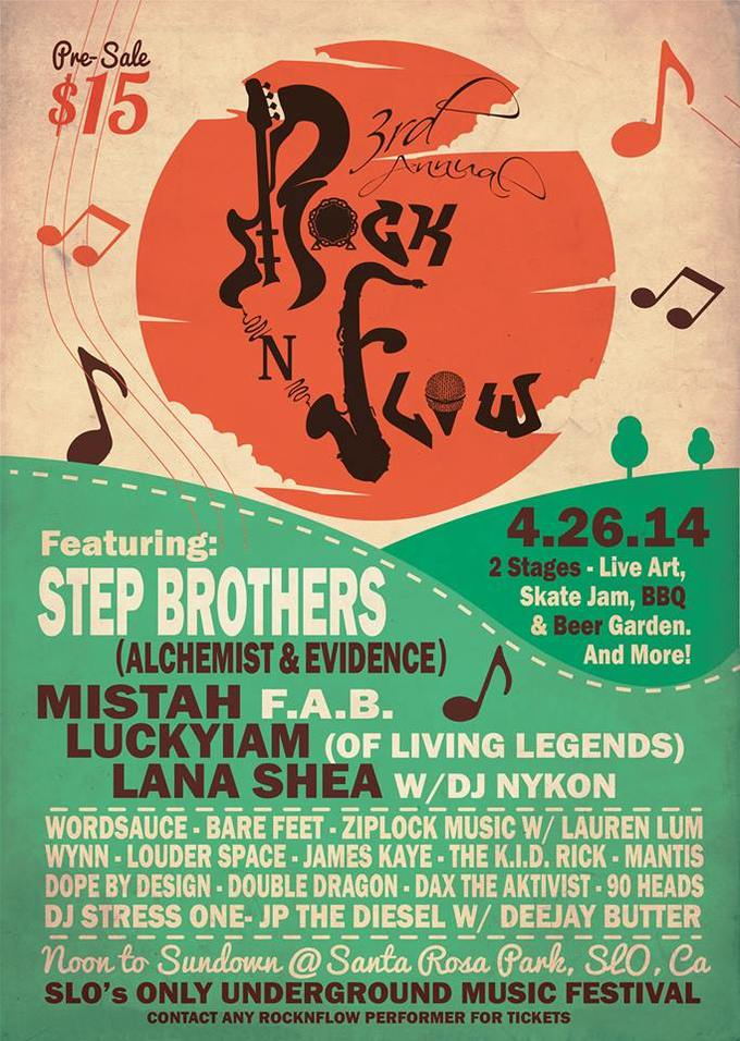 3rd Annual RocknFlow S.L.O. Underground Music Festival