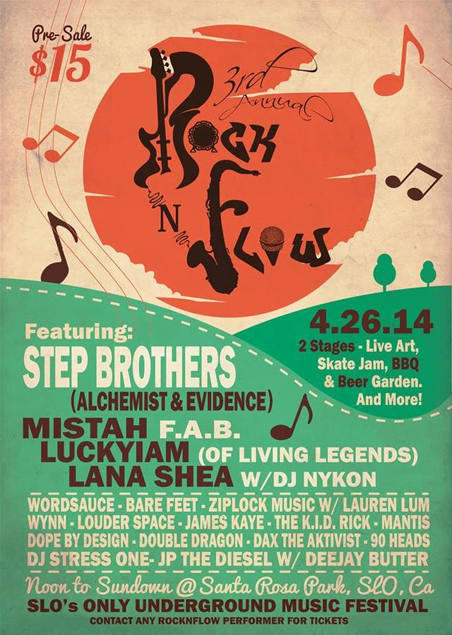 3rd Annual RocknFlow S.L.O. Underground Music Festival