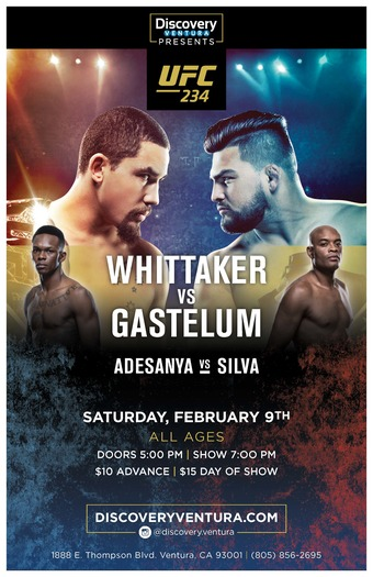 UFC 234: Whittaker vs. Gastelum at Discovery Ventura