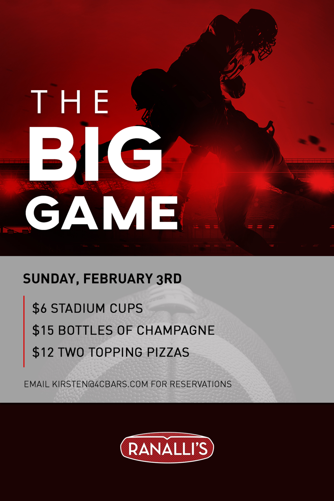 The Big Game at Ranalli's