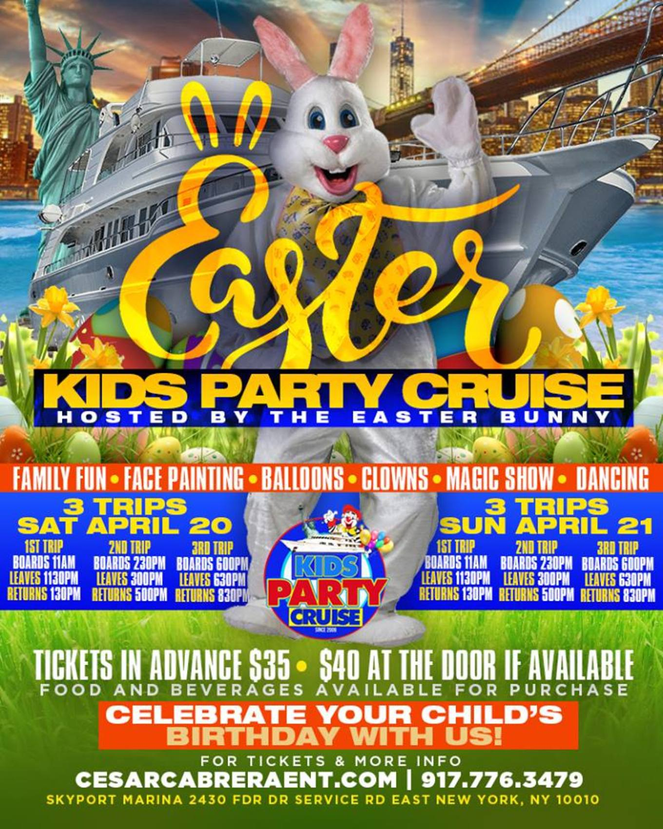 Easter Kids Boat Party Cruise - Tickets - Skyport Marina