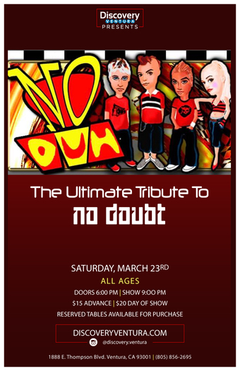 No Duh - Tribute to No Doubt! at Discovery Ventura