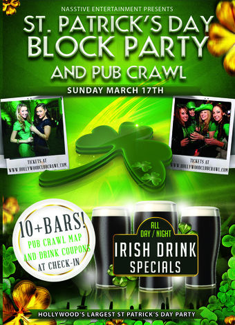 Hollywood St. Patrick's Day Block Party and Bar Crawl