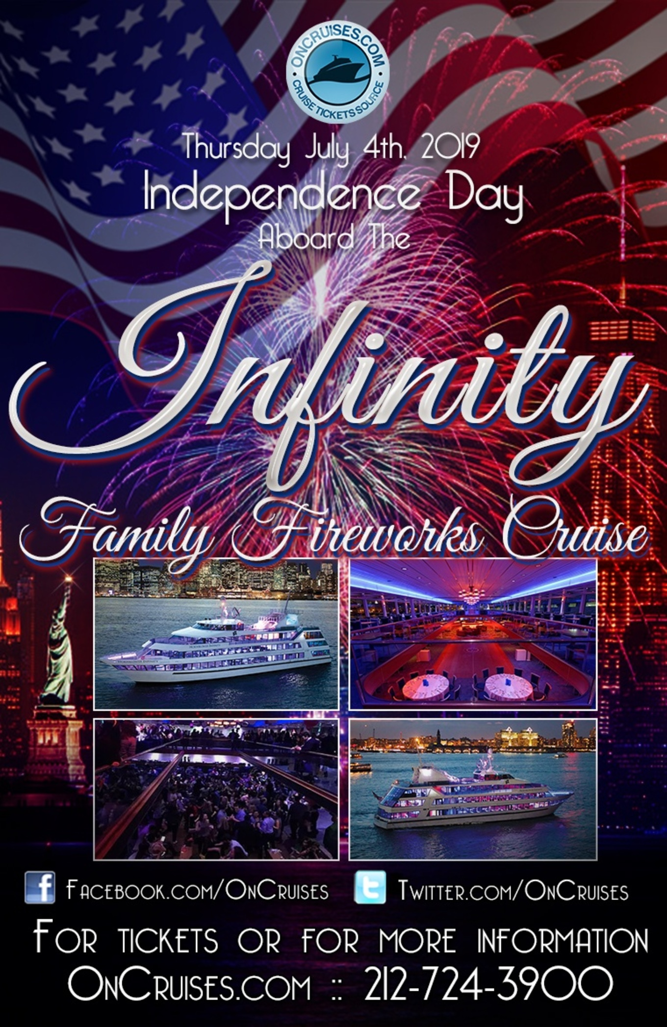 July 4th Family Fireworks Cruise Aboard the Hornblower