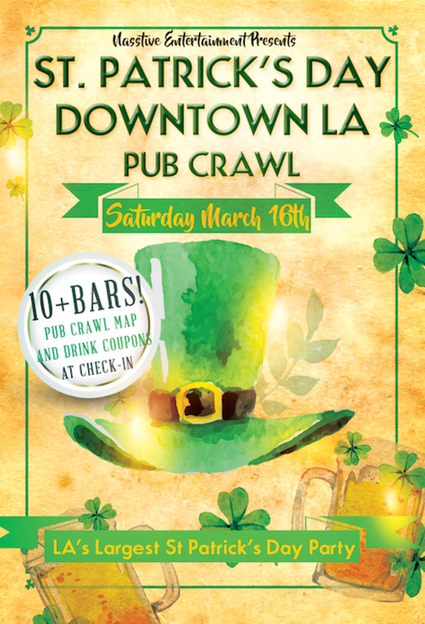 Downtown La Saturday St Patricks Day Pub Crawl Tickets Los