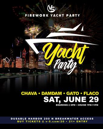 V5 Fireworks Yacht Party