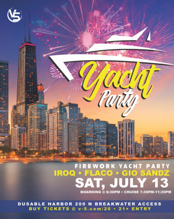 V5 Fireworks Latin Yacht Party