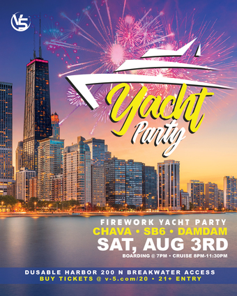 V5 Fireworks Yacht Party