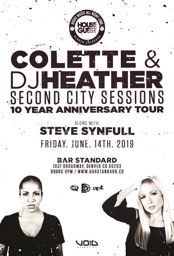 Colette & DJ Heather - Second City Sessions 10 Year Anniversary Tour