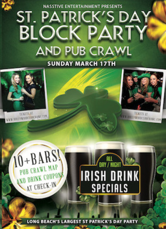 LONG BEACH St. Patricks Day Block Party & Pub Crawl!