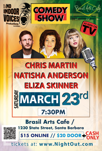 """""""AS SEEN ON TV"""" COMEDY SHOW! Eliza Skinner"""