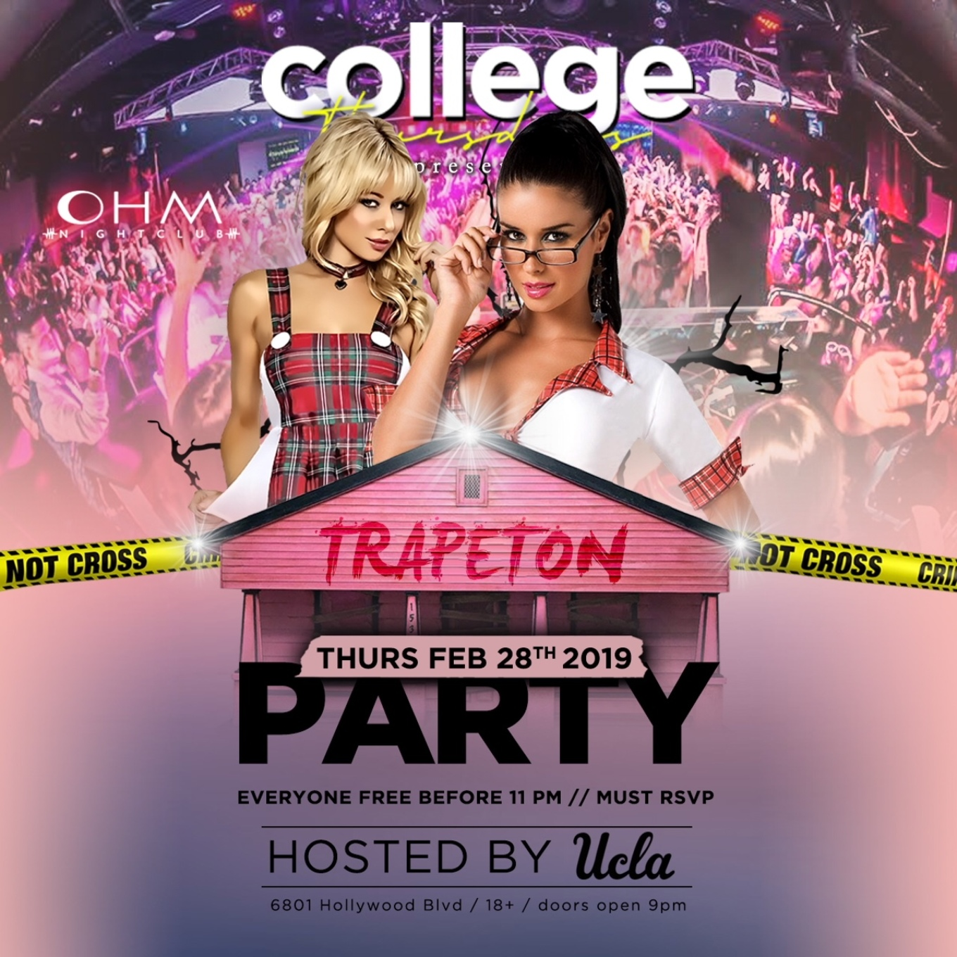 "Mwwb Tour With Ohmms In February: COLLEGE THURSDAYS @ OHM Nightclub 18+ ""TRAPETON"" Party"