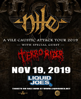 Nile-A Vile Caustic Attack Tour 2019