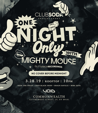 ONE NIGHT ONLY w/ MIGHTY MOUSE (Glitterbox)