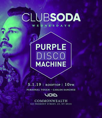 Club Soda w/ PURPLE DISCO MACHINE (Defected / Club Sweat)