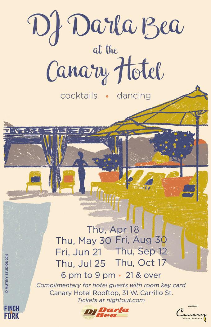 DJ Darla Bea at the Canary Hotel