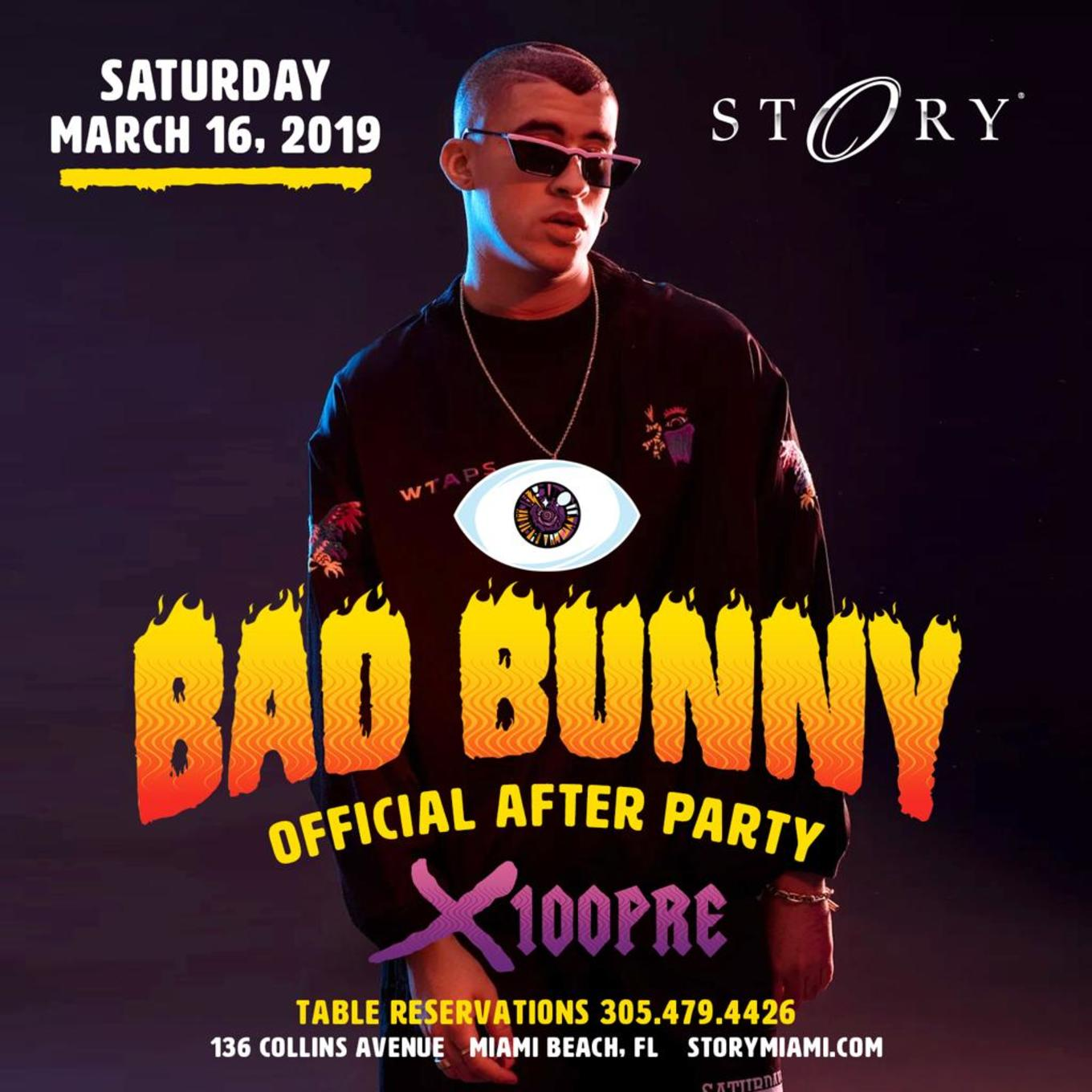 8b67b8ae Official X100 Pre After Party Bad Bunny Live At Story Nightclub ...