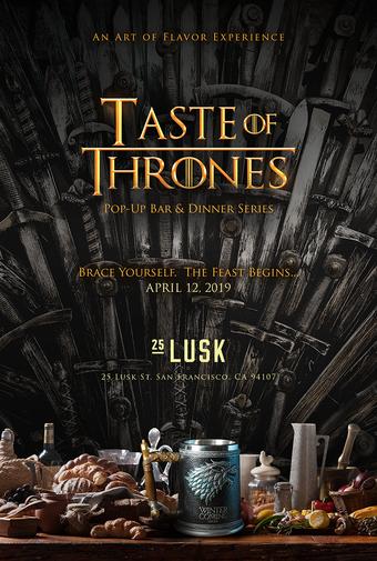 SOLD OUT! l Taste of Thrones l Pop-Up Dinner #2