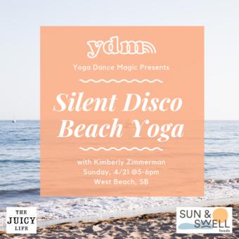 Earth Day Silent Disco Beach Yoga
