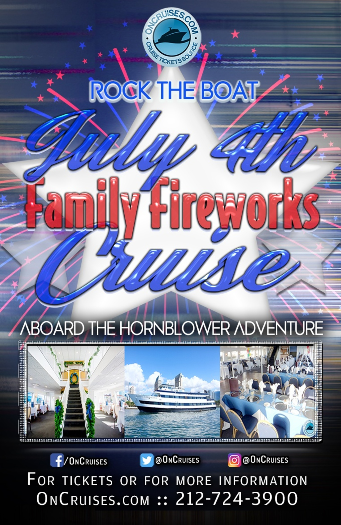Rock The Boat July 4th Family Fireworks Cruise Aboard The