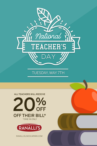 National Teacher's Day at Ranalli's