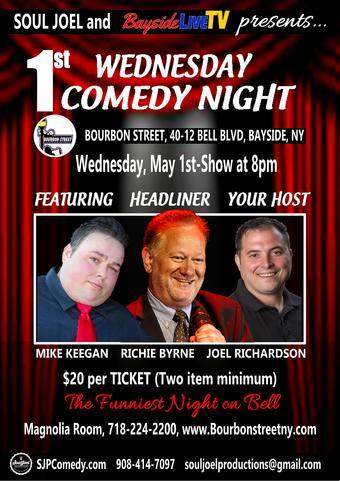 Bayside:  1st Wednesday Comedy Night at Bourbon Street